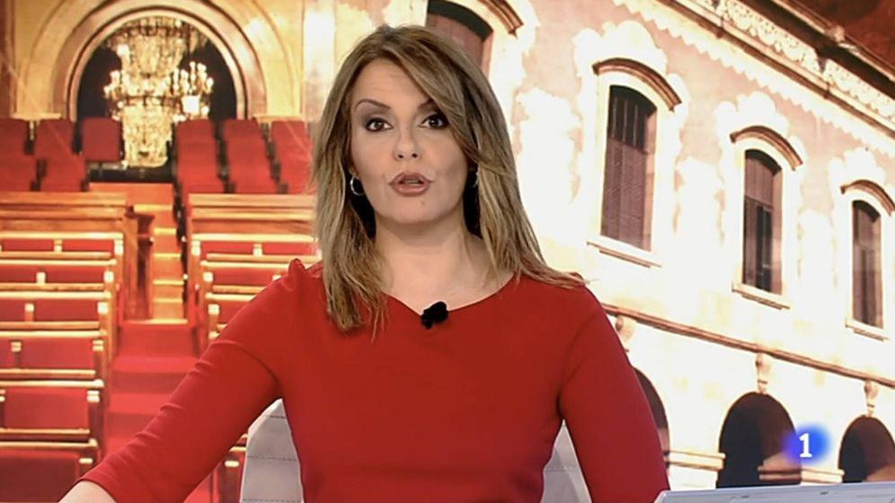 Foto: Pilar García Muñiz, presentadora del 'Telediario 1'.