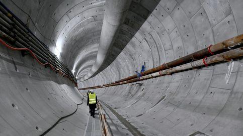 Construcción de un túnel bajo el río Swina