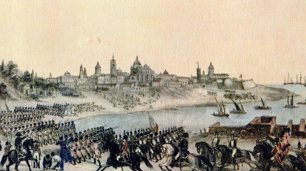 Foto: Invasiones inglesas a Buenos Aires', pintado por Madrid Martínez en 1807.