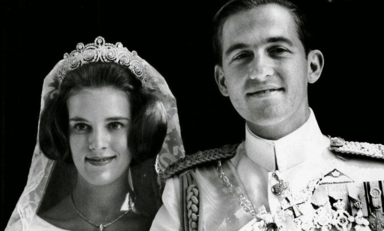 Constantino y Ana María el día de su boda