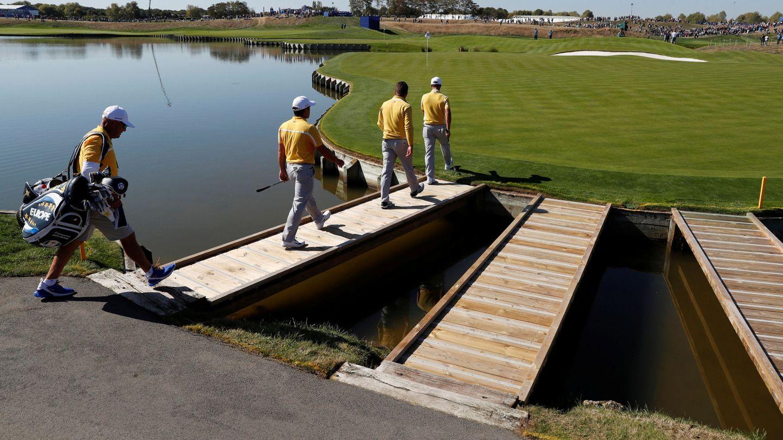 El agua es clave en Le Golf National. (EFE)