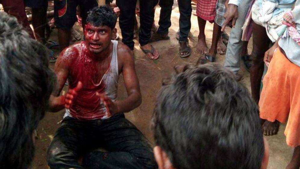 Foto: Imagen de un linchamiento ocurrido en el estado de Jharkhand el pasado 18 de mayo, difundida en las redes sociales