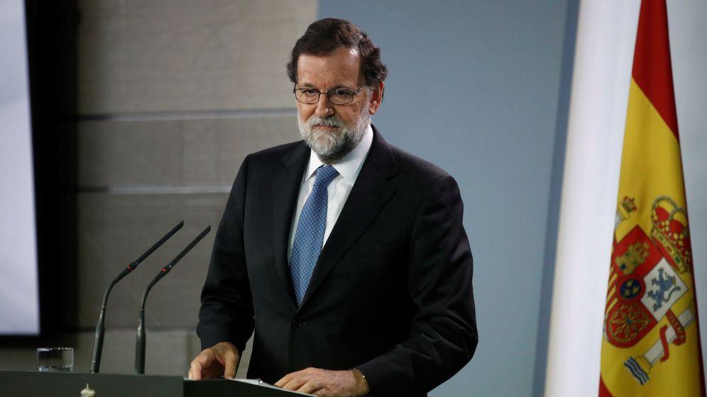 Foto: El presidente del Gobierno, Mariano Rajoy, durante la rueda de prensa. (EFE)