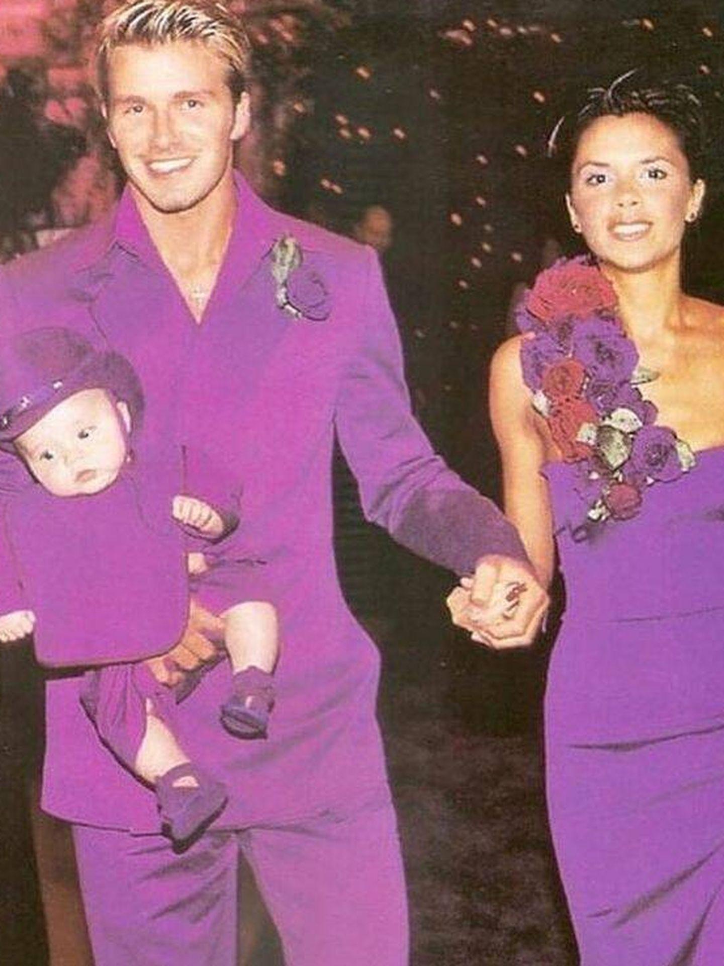David y Victoria Beckham, el día de su boda. (Instagram @davidbeckham)