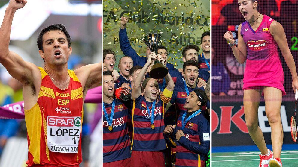 Los diez protagonistas del deporte español en 2015