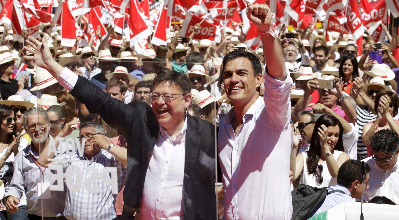 Ximo Puig y Pedro Sánchez. (Reuters)