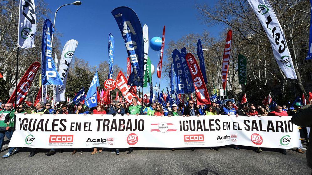 Foto: Protesta de funcionarios de prisiones la semana pasada en Madrid. (EFE)