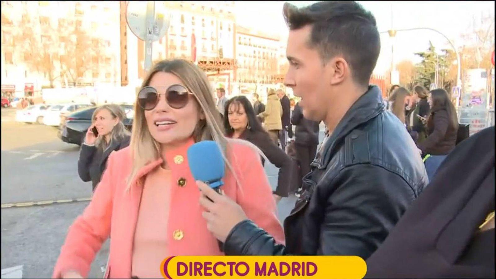 Foto: María Lapiedra en conexión con 'Sálvame'. (Mediaset España)