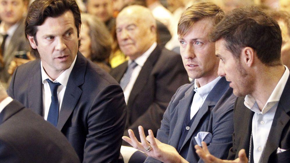 Foto: Santiago Solari, Guti y Helguera. (EFE)