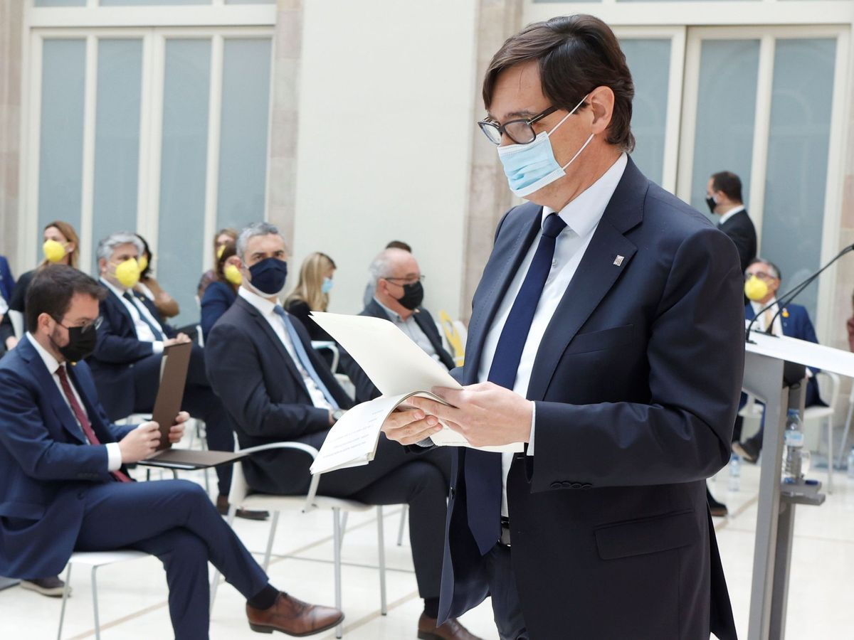Foto: El líder parlamentario del PSC, Salvador Illa. (EFE)