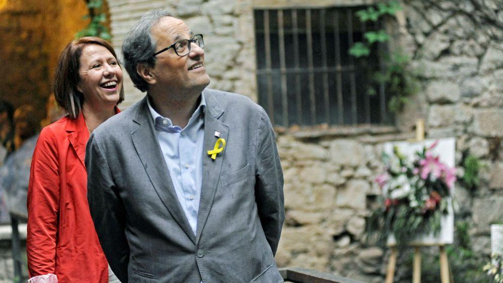 Foto: El presidente de la Generalitat, Quim Torra, y la alcaldesa de Girona, Marta Madrenas. (EFE)