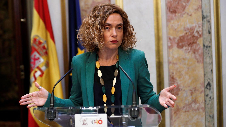 La presidenta del Congreso, Meritxell Batet, el pasado 24 de mayo tras la segunda reunión de la Mesa de la Cámara Baja de esta XIII Legislatura. (EFE)