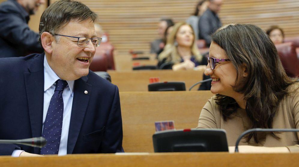 Foto: El president de la Generalitat, Ximo Puig, y la vicepresidenta, Mónica Oltra. (Efe)