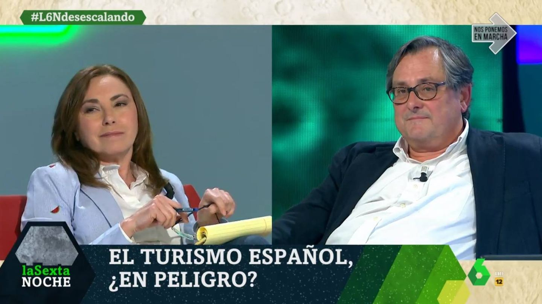 La directora de El Plural y Marhuenda, en 'La Sexta noche'. (Atresmedia).