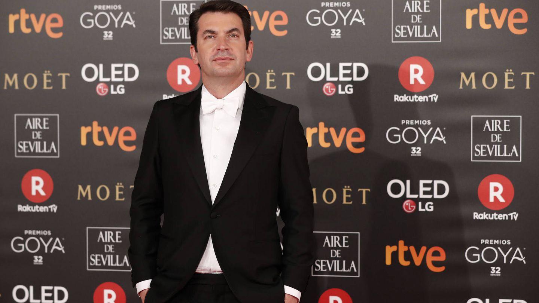 Arturo Valls en la alfombra roja de los Goya.