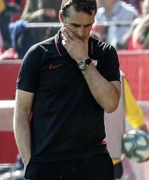 Foto: Lopetegui, preocupado durante el encuentro ante el Espanyol. (EFE9