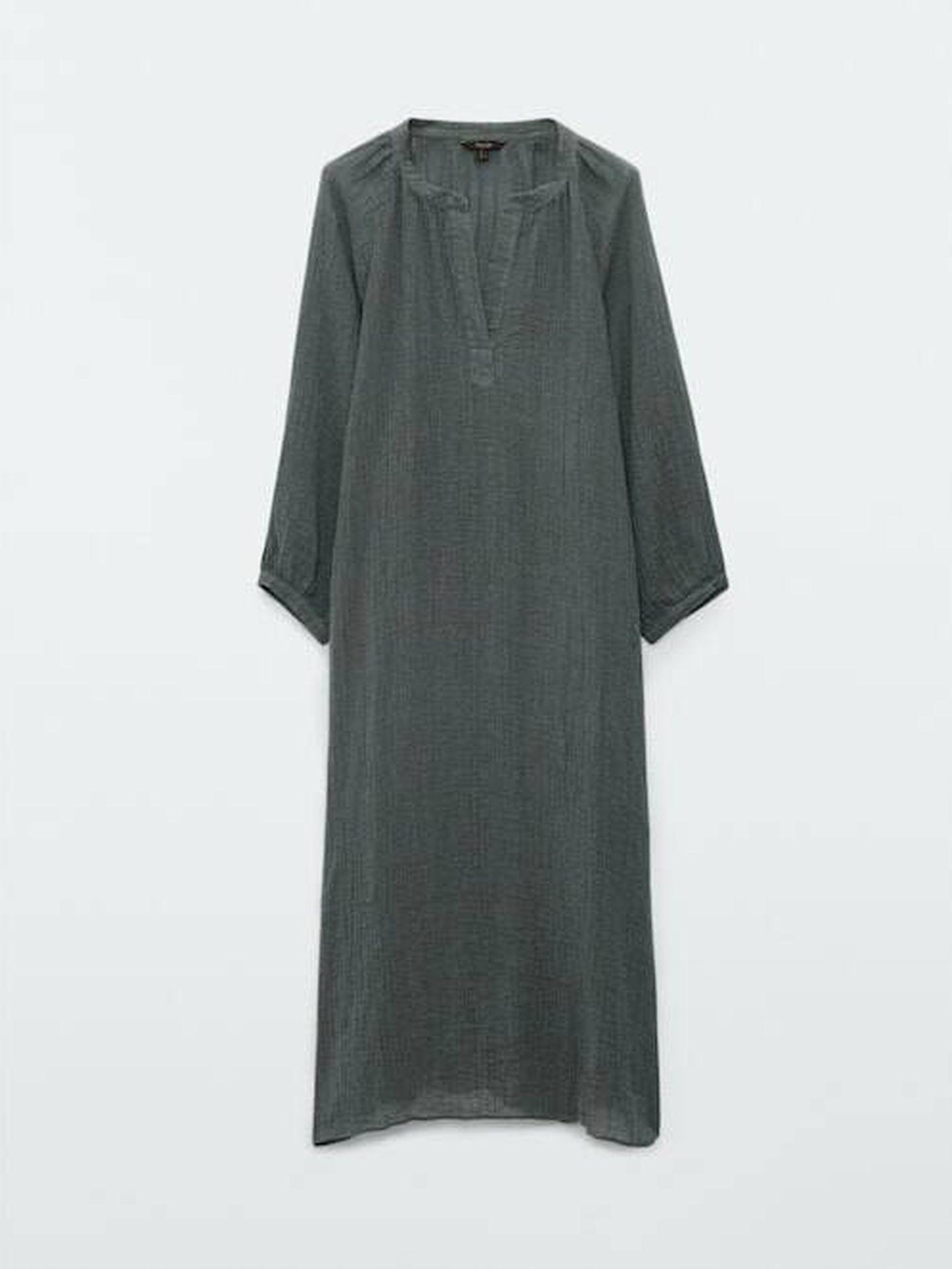 El vestido de lino de Massimo Dutti ideal para el verano. (Cortesía)