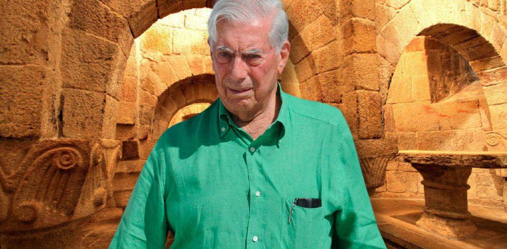 Foto: Mario Vargas Llosa en un fotomontaje de Vanitatis.