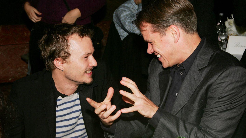 Heath Ledger y Matt Damon fueron grandes amigos. (Getty)