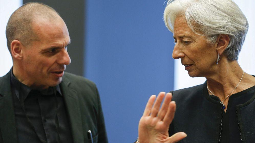 Foto: El ministro de Finanzas griego, Yanis Varufakis, y la directora gerente del Fondo Monetario Internacional (FMI), Christine Lagarde