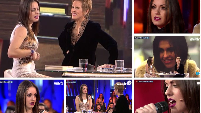 Niedziela en diferentes momentos de su entrevista con Mercedes Milá tras su expulsión