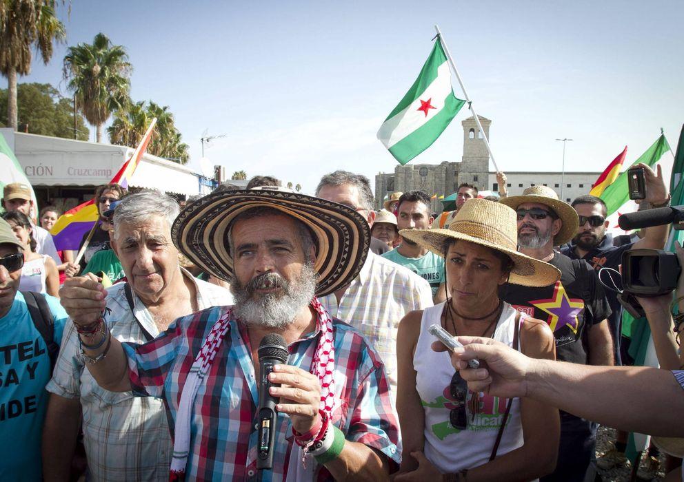 Foto: El parlamentario de IULV-CA Juan Manuel Sánchez Gordillo (EFE)