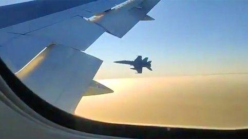 Así fueron los audios entre el Air Canada, el piloto militar del F-18 y el control de Barajas