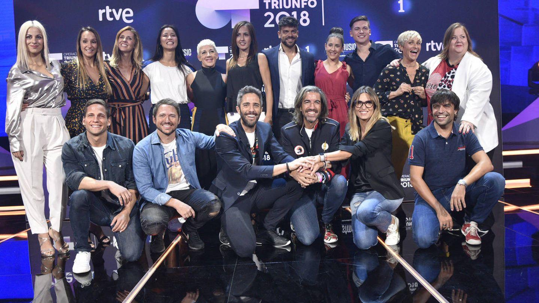 Noemí Galera con el equipo de 'OT 2018'. (RTVE)