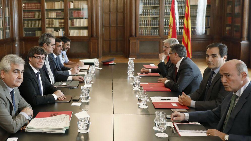 Foto: Última reunión de la Junta de Seguridad de Cataluña. (EFE)