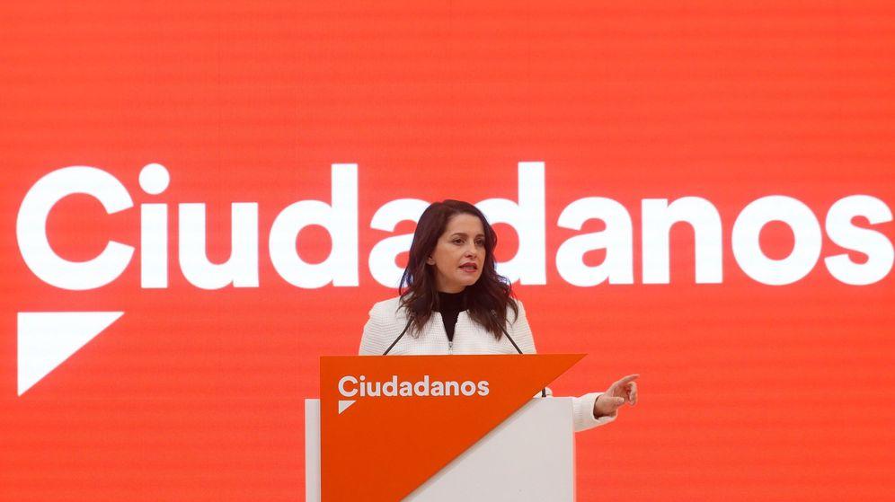 Foto: La presidenta y portavoz del grupo parlamentario de Cs en el Congreso, Inés Arrimadas. (EFE)