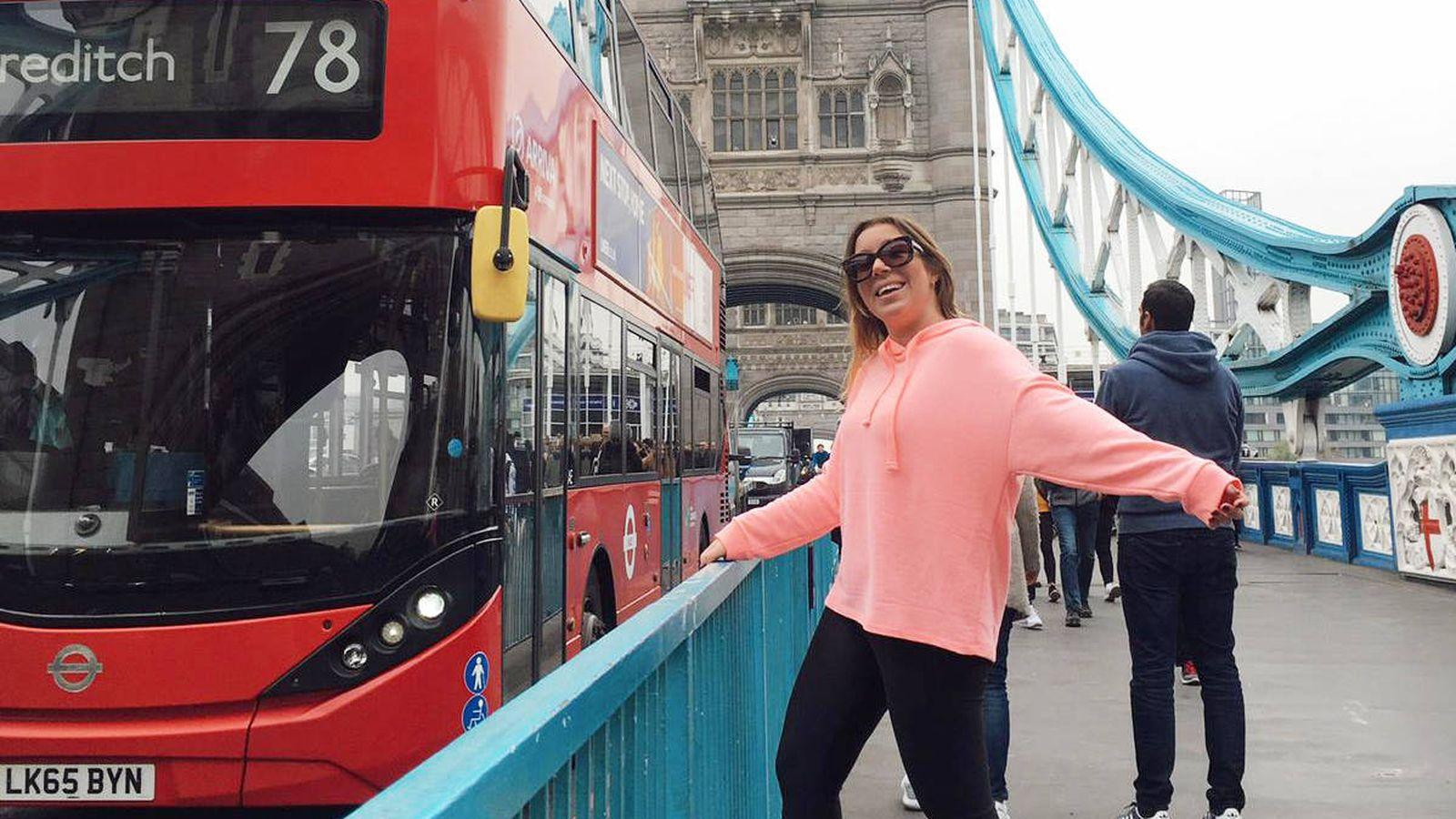 Foto: Ana Cabrero durante su año en Londres trabajando como 'au-pair'. (Foto cedida)