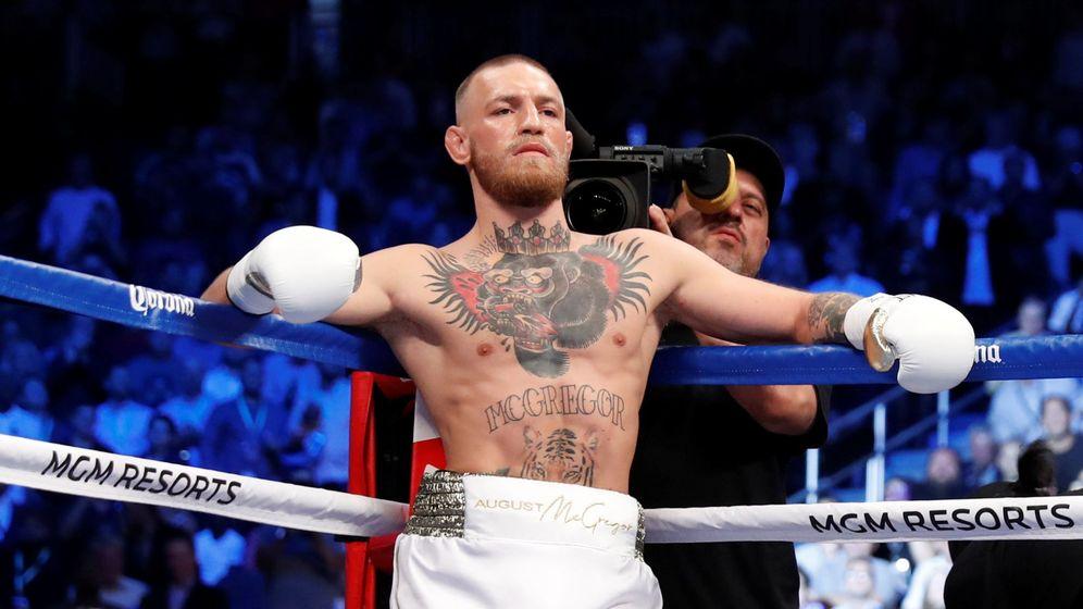 Foto: Conor McGregor, durante su pelea de boxeo contra Mayweather en 2017. (Reuters)