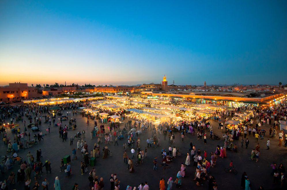 Foto: La plaza de Jemaa el-Fna, en Marrakech