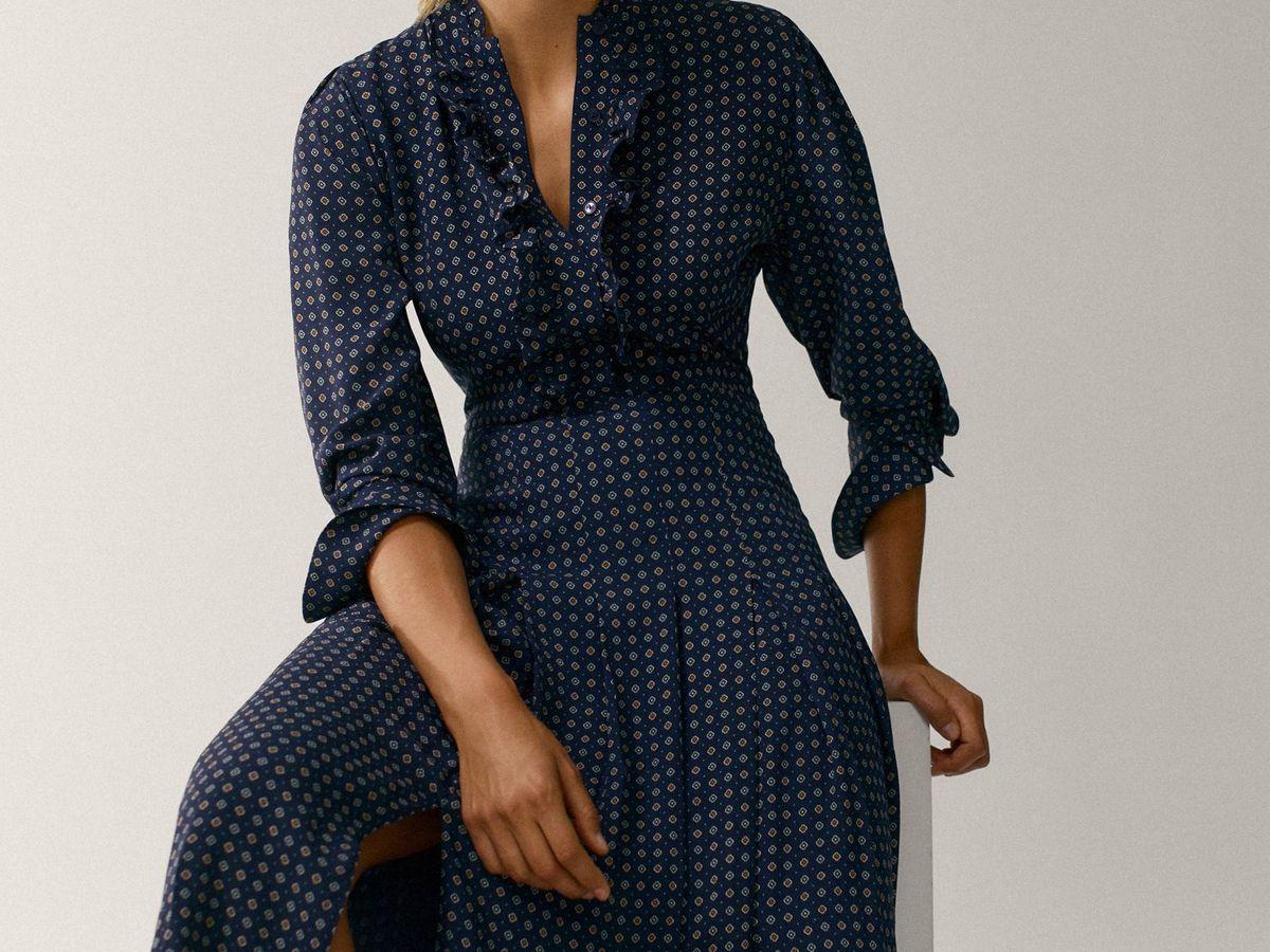 Foto: Presume de tipazo con este vestido midi de Massimo Dutti. (Cortesía)