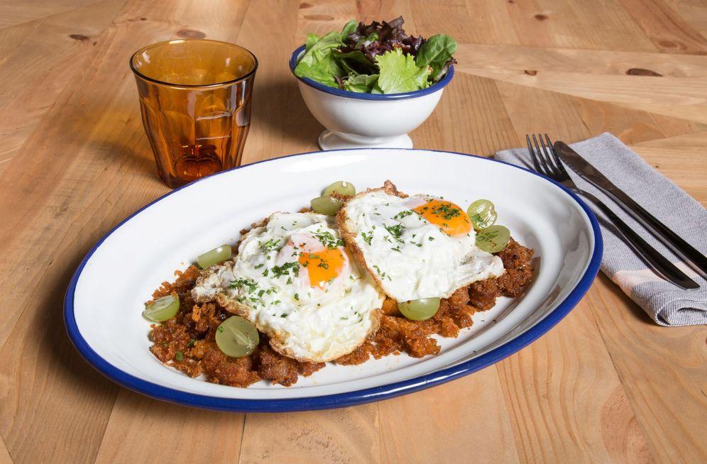 Foto: Migas con huevos fritos.