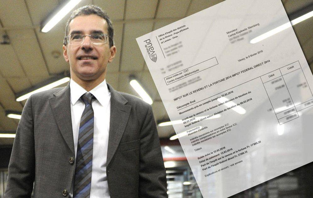 Foto: Carlos Koplowitz y el documento que acredita el fallo administrativo (Fotomontaje de Vanitatis)