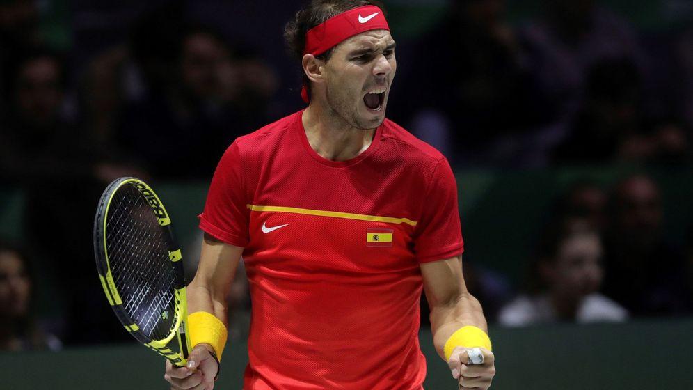 Foto: Rafa Nadal, en la Copa Davis del pasado noviembre. (EFE)