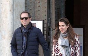 Carlota Casiraghi y Gad Elmaleh pasean su amor por las calles de Roma