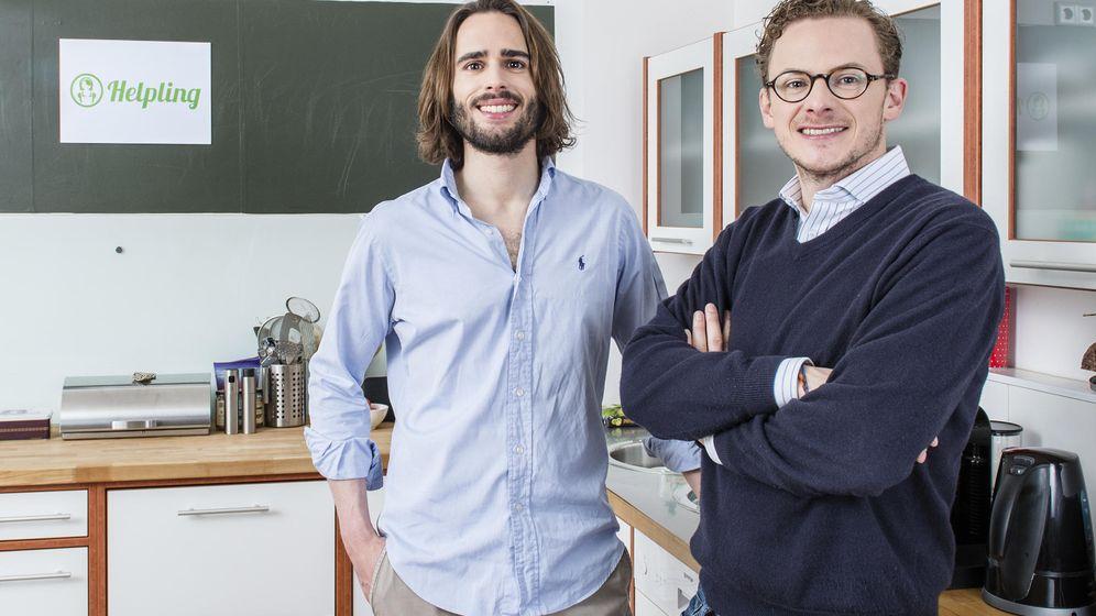 Foto: Philip Huffmann y Benedikt Franke, cofundadores de Helpling