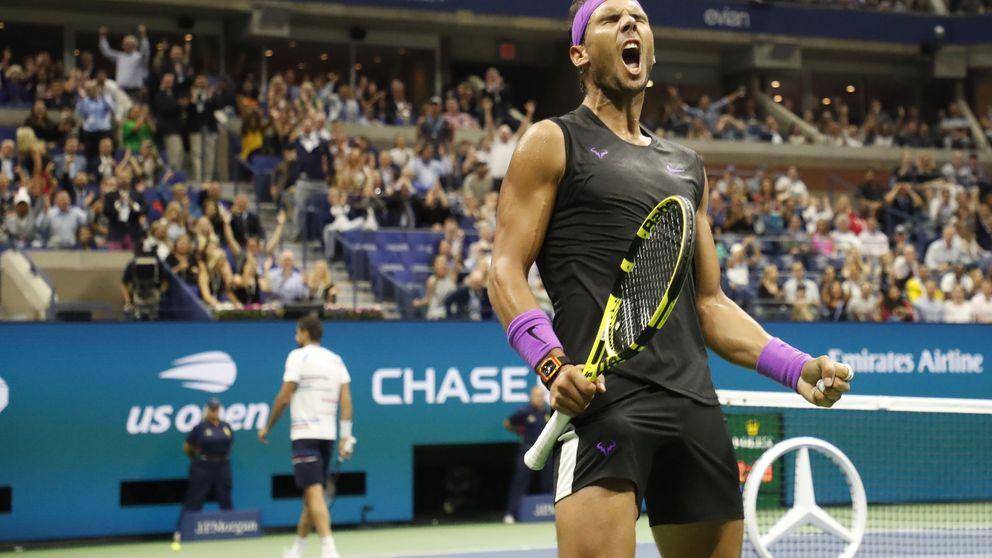 El viento a favor de Rafa Nadal en el US Open y el partidazo que emocionó a Tiger Woods