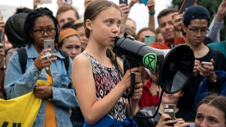 Greta Thunberg en un momento del documental. (Movistar )