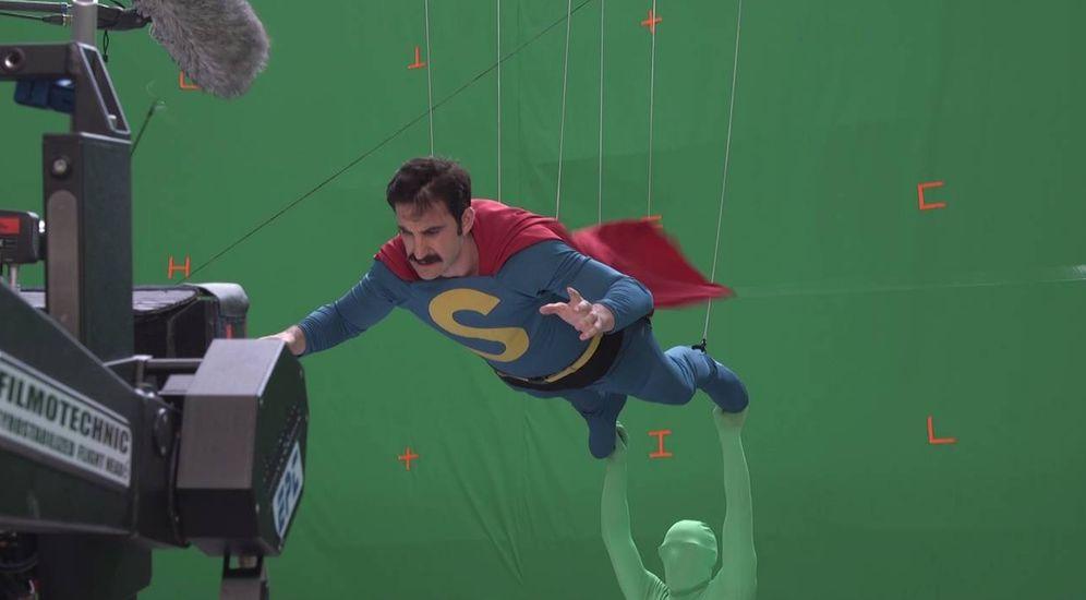 Foto: Dani Roviera en el rodaje del filme