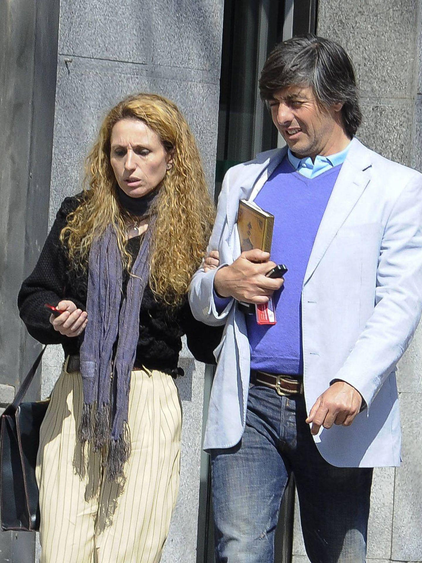Yolanda García Cereceda con su marido, Jaime Ostos. (Getty)