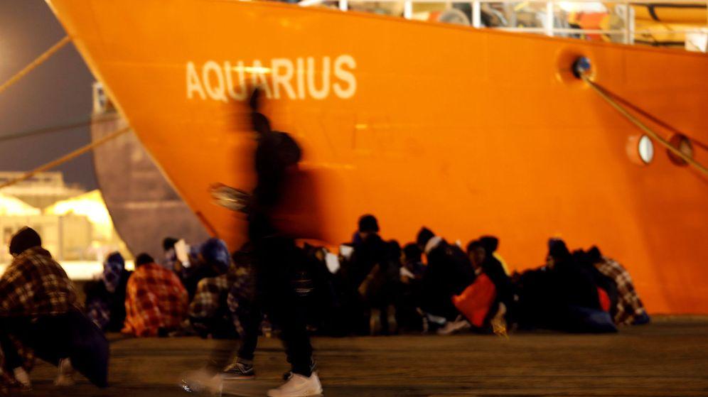 Foto: Imagen del Aquarius durante otra operación de rescate el pasado mes de enero. (Reuters)