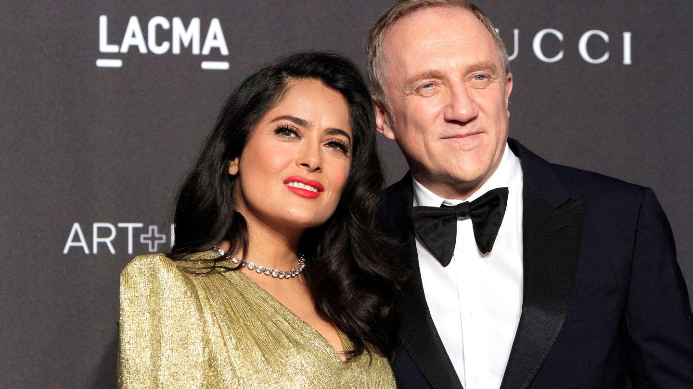 El empresario François-Henri Pinault y su esposa, la actriz mexicana Salma Hayek. (EFE)