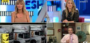 Post de Desnudo en 'Espejo Público': un invitado se quita la camisa y deja a Griso ojiplática