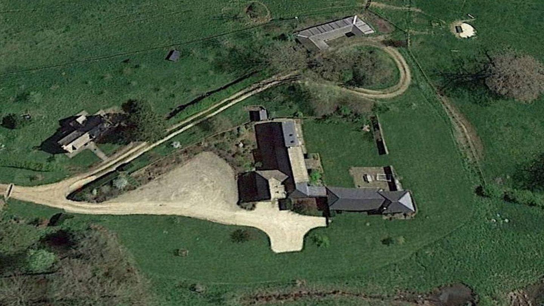 Vista aérea de la villa. (Google Maps)