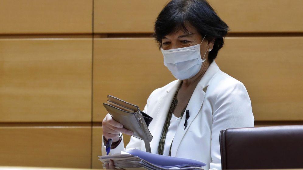 Foto: La ministra de Educación y Formación Profesional, Isabel Celaá, en su comparecencia en el Senado. (EFE)