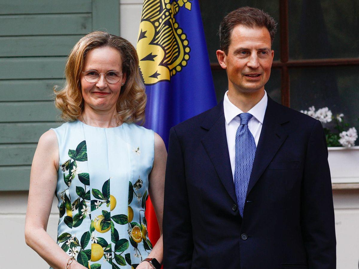 Foto: Sophie y Alois de Liechtenstein, este lunes en Postdam. (EFE)