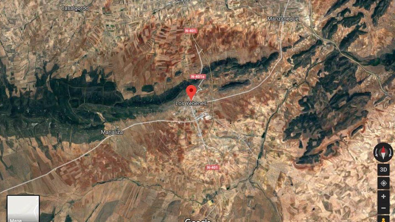 Juan Abelló tiene tres fincas en el término municipal de Los Yébenes. (Google)